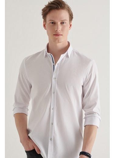 Avva Erkek  Armürlü Gömlek A11Y2115 Beyaz